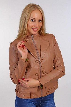 Кожаная куртка BN-63 светло-коричневая