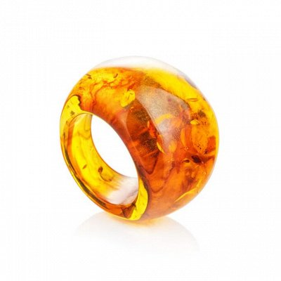 4 - Бижу из настоящего Янтаря   — Янтарные кольца — Кольца бижутерия