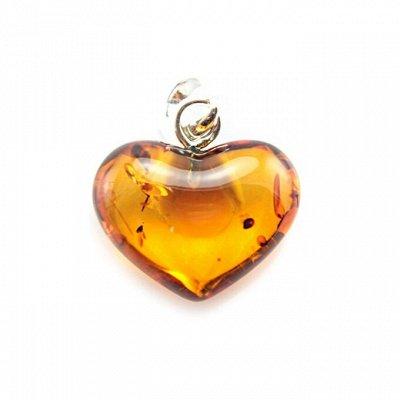 Бижу из настоящего Янтаря      — Янтарные кулоны «Сердце» — Цепочки и подвески