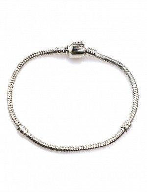 Модульный браслет для подвесок-шармов в стиле Pandora тёмный, 605107008