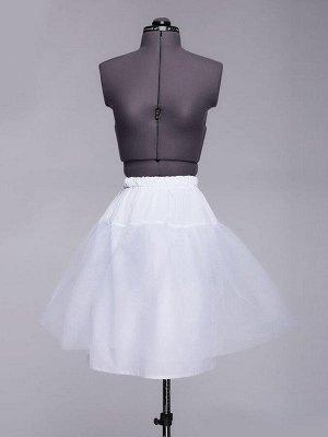 Нижняя юбка белая длины миди