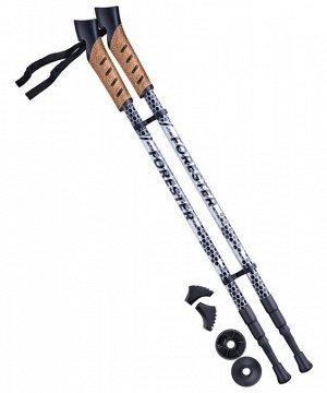 Палки для скандинавской ходьбы Forester, 67-135 см, 3-секционные, серый/чёрный