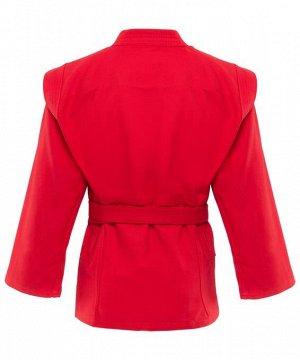 Куртка для самбо Green Hill JS-302, пл-ть 380гр/м2, красный, р.00/120