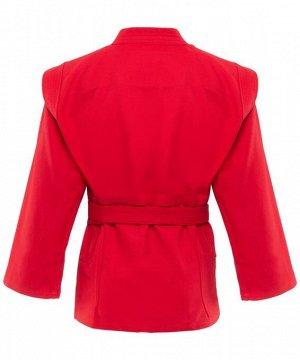 Куртка для самбо Green Hill Junior SCJ-2201, красный, р.4/170