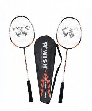 Набор для бадминтона WISH Fusiontec 799K (2 ракетки), оранжевый 1/25