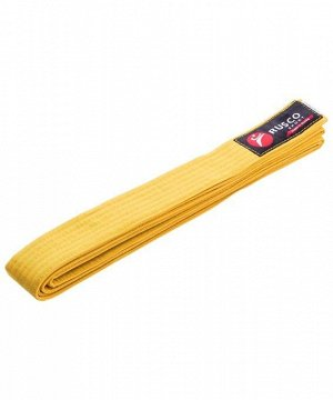 Пояс для единоборств Rusco, 260 см, желтый