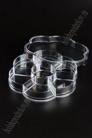 Пластиковый органайзер для мелочей 12*1,9 см (цветок) SF-2312