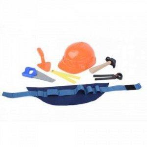 Набор строителя (каска,жилет,молоток,линейка,пила,кусачки)