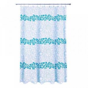 """VETTA Шторка для ванной, ткань полиэстер с утяжелит, 180x180см, """"Уголок"""", Дизайн GC"""