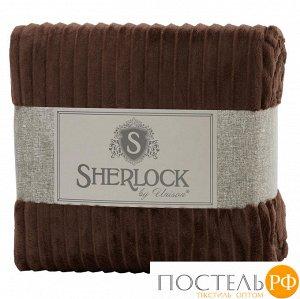 "Код: 592988 Плед микрофибра рельеф ""Sherlock"" 150х200 шоколадный"