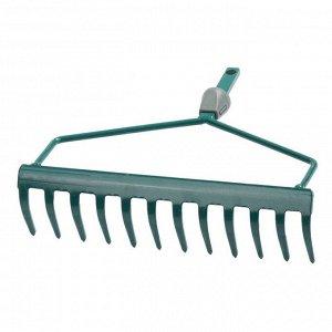 Грабли прямые, прямой зубец, 12 зубцов, с быстрозажимным механизмом, без черенка