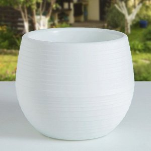 Горшок для цветов «Япония» 1,2 л, цвет белый