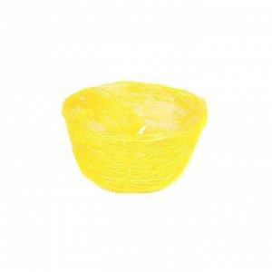 Кашпо, сизаль, круг, диффенбахия лимонная 8 х 17 см