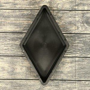 Форма для тротуарной плитки «Ромб», 19 ? 33 ? 4,5 см, гладкая, Ф31020, 1 шт.