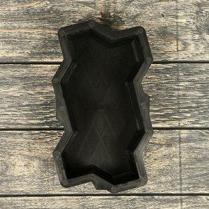 Форма для тротуарной плитки «Волна», 21 ? 11 ? 6 см, шагрень, Ф11006, 1 шт.