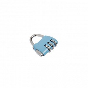Замок навесной TRODOS CL506, кодовый, голубой
