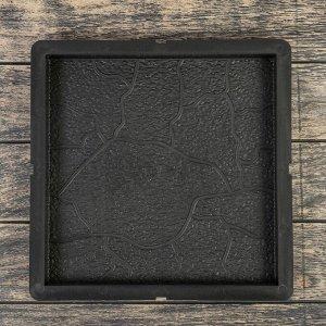 Форма для тротуарной плитки «Плита. Тучка», 30 ? 30 ? 3 см, Ф12011, 1 шт.