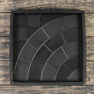Форма для тротуарной плитки «Плита. Паутинка», 30 ? 30 ? 3 см, Ф12008, 1 шт.