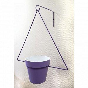 Держатель для кашпо, d = 17,5 см, с кронштейном, фиолетовый