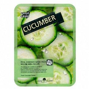 May Island Real Essense Cucumber Mask Pack Тканевая маска для лица с экстрактом огурца