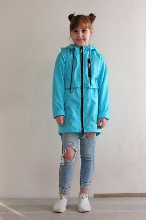 Куртка на флисе удлиненная