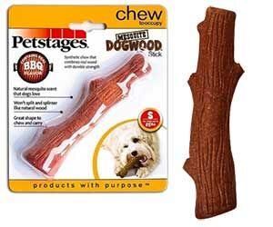 Игрушка Для Собак Мелких Пород Petstage (ПетСтейдж) Mesquite Dogwood Палочка Аромат Барбекю Малая 16см 30143