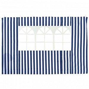 Стенка синяя с окном для садового тента-шатра №4120