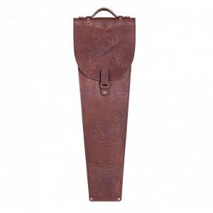Шампура подарочные 6 шт. в колчане из натуральной кожи, коричневого цвета