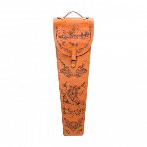 Шампура подарочные 6 шт. в колчане из натуральной кожи