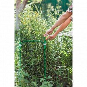 Кустодержатель, 35 ? 35 см, h = 100 см, ножка d = 1 см, металл, зелёный
