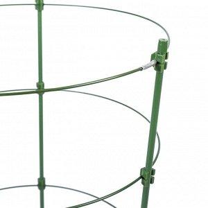 Кустодержатель, d = 28 см, h = 120 см, металл, зелёный, 4 кольца