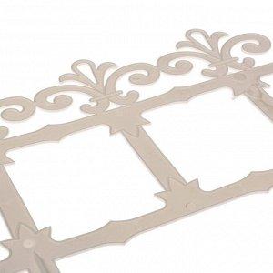Ограждение декоративное, 33 ? 267 см, 7 секций, пластик, белое, «Роскошный сад»