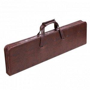 Набор дорожный шашлычный в сумке-кейсе из искусственной кожи (6 персон)