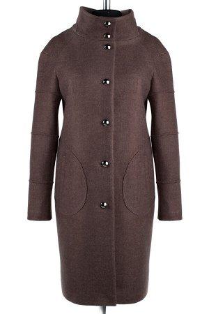 01-5755 Пальто женское демисезонное SALE валяная шерсть коричневый
