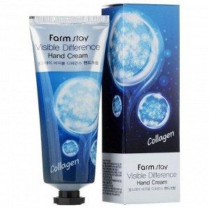 Farm Stay Visible Difference Hand Cream Collagen Коллагеновый крем для рук 100 мл