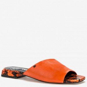 яркие оранжевые шлепки