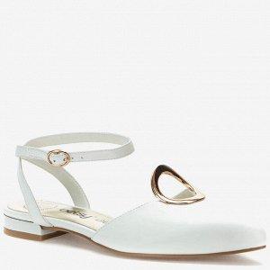 907036/02-03 белый иск.кожа женские туфли открытые