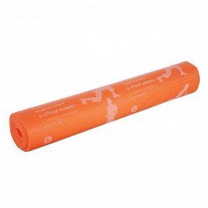 """Коврик для йоги, ПВХ, 61х173 см, толщина 4мм, 4 цвета, SILAPRO """"Асаны"""""""