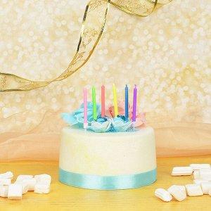 Капитан Весельчак Набор свечей для торта 6шт, с цветным пламенем