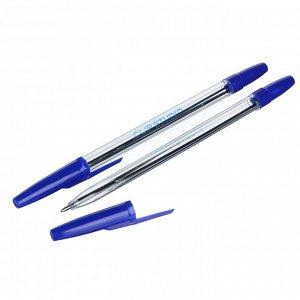 ClipStudio Ручка шариковая синяя, с прозрачным корпусом, линия 0,7 мм