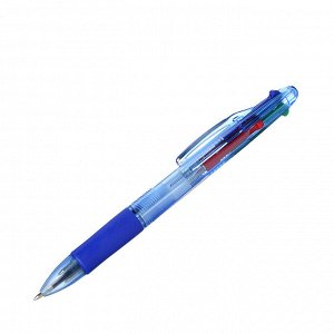Ручка шариковая 4-цветная, пластик