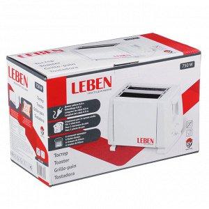 LEBEN Тостер 750Вт, 2 отдела, функция выжигания фигурки на хлебе, 6 степеней поджарки, арт.HJT-016