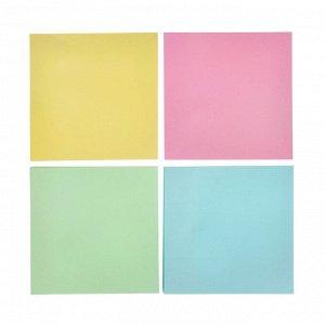 Блок с клеевым краем 76x76мм, 100 листов, 4 цвета, бумага