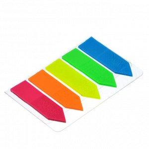 ClipStudio Закладки с клеевым краем пластиковые 45x12мм, 5x25 листов, 5 цветов, в форме стрелки