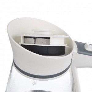LEBEN Чайник электрический 1,5л, 1850Вт, скрытый нагр.элемент, автооткл.,стекло-кувшин,LED подсветка