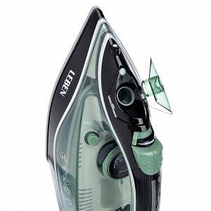 LEBEN Утюг с отпаривателем 2000 Вт, подошва - керамическое покрытие, зеленый