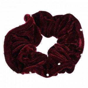 BERIOTTI Резинка для волос бархат с камнями, d7см, полиэстер, 6 цветов, арт.203