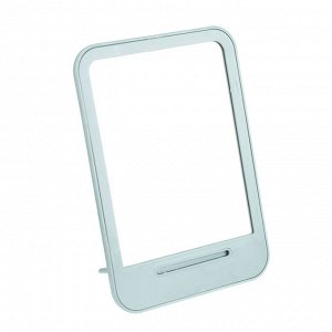 Зеркало настольное, стекло, пластик, 14х19,6см, 4 цвета