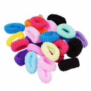 BERIOTTI Набор резинок для волос 24шт, полиэстер, 3см, арт.FG-3009
