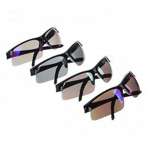 GALANTE Очки солнцезащитные мужские, пластик, 143х43мм